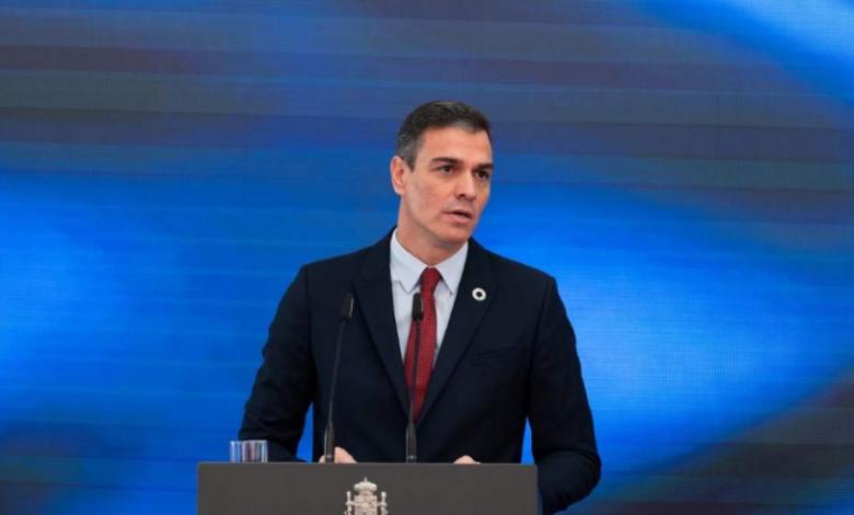Pedro Sánchez speach